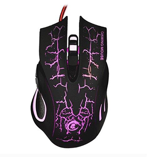 Mäuse Kabel Speed Regulation Office Fünf DPI Spiel (Farbe : Black)