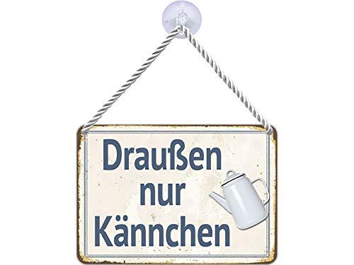Blechwaren Fabrik Braunschweig Kulthänger Draußen nur Kännchen KH051