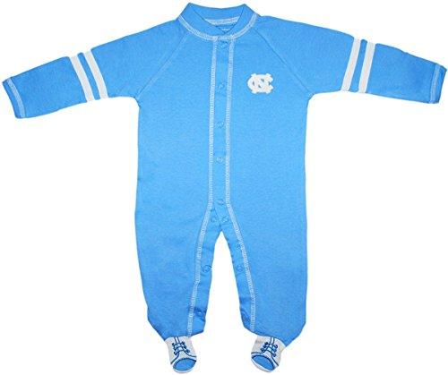 University of North Carolina Tar Heels Sports Shoe Footed Baby Romper Carolina Blue 3-6 Months