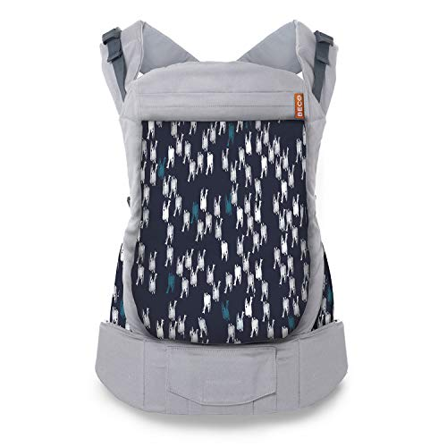 Beco Portabebés para Niños Pequeños - Mochila Portabebés para infantes de 20 a 60 libras diseñada para cargar niños pequeños con asiento extra amplio (Brush Strokes)