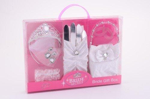 Niños de Princesa de corona de diadem Pendientes con guantes y bolsa