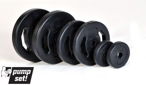 pumpset! Hantelscheibenpaar Gewichte Krafttraining Hanteln schwarz 2 x 2,5 KG