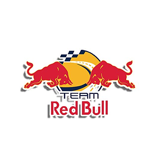 13cm x 9cm Etiquetas de coche para Red Of Bull Team Racing RV VAN Fine Decal 3D Accesorios de coche