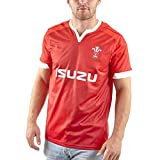 Maillot de Rugby pour Homme/Maillot de Rugby à Domicile 2020 Pays de Galles Welsh Home Maillots de Rugby pour Hommes Vêtements de Jeu Tshirt Sportswear (S-5XL)-L