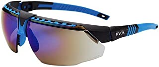 Uvex S2873 Avatar Adjustable Safety Glasses with Hardcoat Anti-Scratch Coating, Standard, Blue/Black