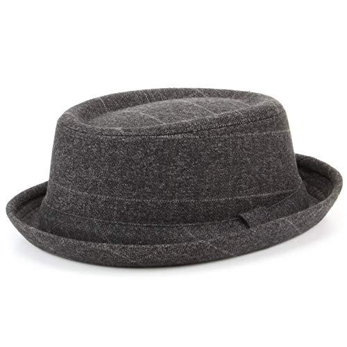 Hawkins TWEED CAPPELLO pork pie Cappello con fascia - Grigio - Grigio, 57cm