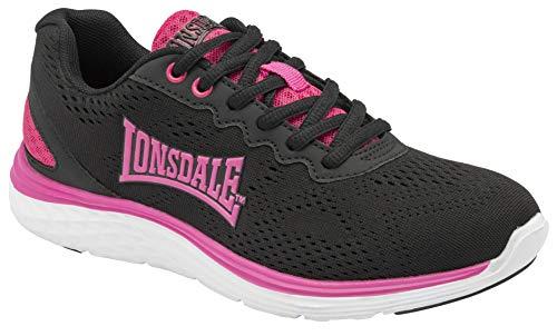 Lonsdale Lisala 2, Scarpe per Jogging su Strada Donna, Nero Fucsia, 39 EU