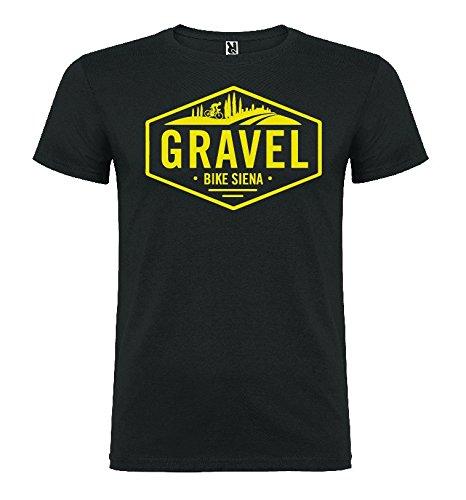 avis gravel bike professionnel T-shirt Homme Gravel Bike Sienna 100% Coton à Manches Courtes-Gris-Grand