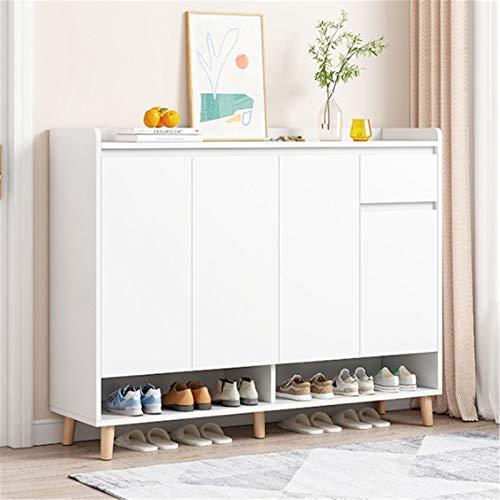 Gabinete de Zapatos Gabinete de zapatos interior interior guata puerta simple polvo a prueba de polvo espacio ahorro de espacio zapato zapato estante para Casa ( Color : White , Size : 120x32x140cm )