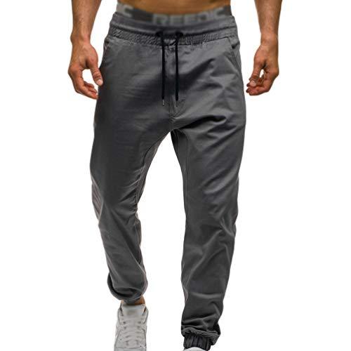 Xinwcanga Hombre Pantalones de Montar a Caballo Elástico Deportivos Ocio Aptitud Pantalones con Cordón