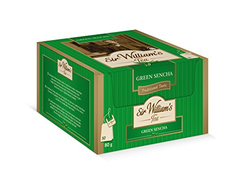 SIR WILLIAM`S GREEN SENCHA 50 Stk. Teebeutel; Beuteltee im Bag
