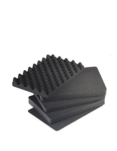 B&W outdoor.cases vorgestanzter Würfelschaum (SI) für outdoor.case Typ 5000 - Das Original
