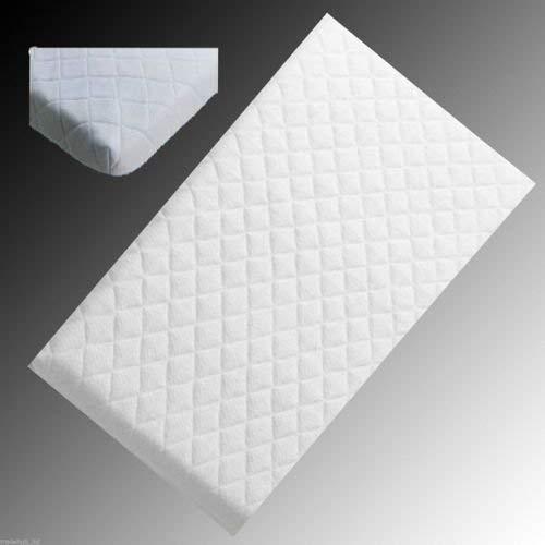 Bluemoon Bedding Hipoalergiczny materac do łóżeczka z mikrofibry o wymiarach 89 x 40 x 4 cm (kwadratowe rogi)