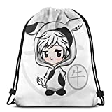 Chibi Haru Ox Zodiac Fruits Basket Drawstring Bag Sports Fitness Bag Travel Bag Gift Bag