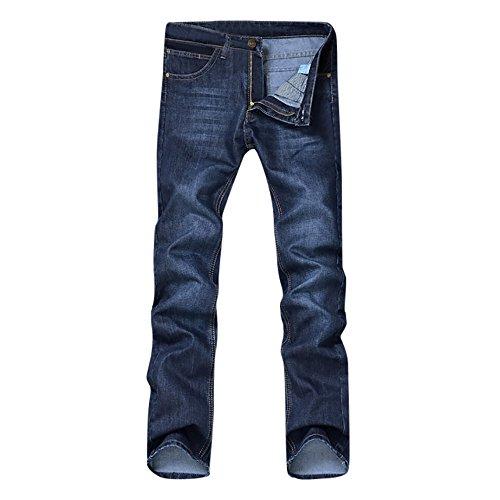 Landscap Men's Relaxed Fit Flex Jean Casual Autumn Denim Cotton Pants Hip Hop Loose Work Trousers Long Jeans