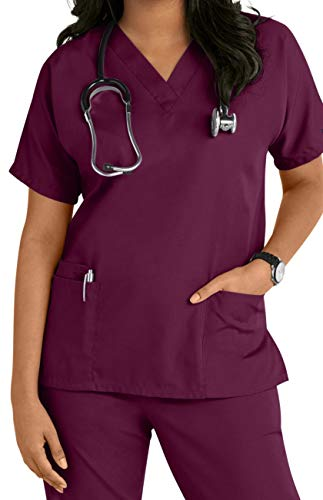 Smart Uniform V 2610 Neck top (XXL, Wine)