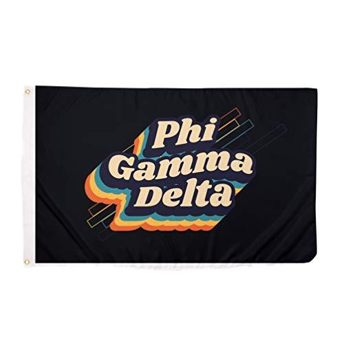 Phi Gamma Delta Fiji 70's Fraternity Flag Banner 3 feet x 5 feet Sign Decor (70's Flag)