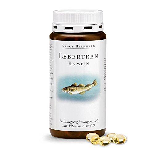 Sanct Bernhard Lebertran-Kapseln mit Lebertran, Vitamin A,D3 200 Kapseln