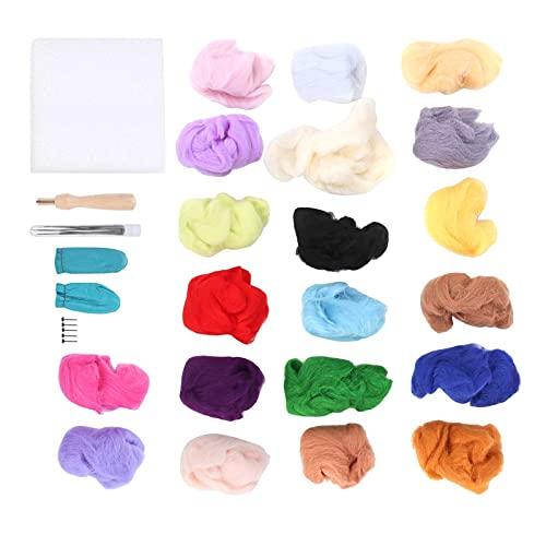 Nålfiltningssats, ullrevande nålfiltningstillbehör Nålfiltverktygssats Nålullfilt för smycken för ullmålning för torrfilt