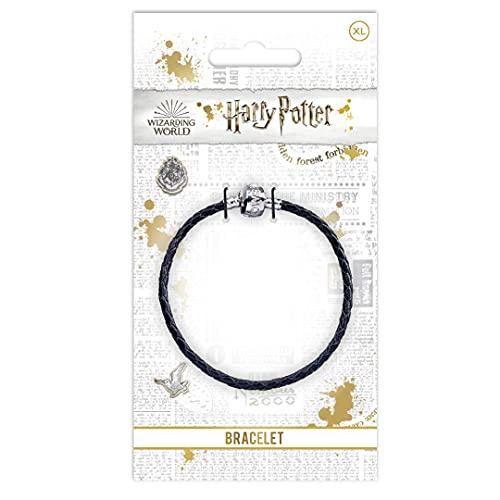 Collana con ciondolo ufficiale di Harry Potter, per charm di Harry Potter, placcato argento, colore: Black, cod. HP0029-21