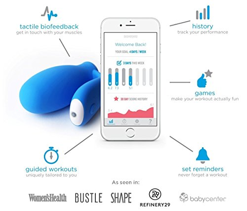 kGoal - The Original Smart Kegel Trainer with Biofeedback for Pelvic Floor Exercise - with kGoal App for iOS and Android