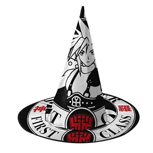 Sombrero de Halloween Soldado Primera Clase Shinra Midgar Final Fantasy VII Sombrero de Bruja Halloween Disfraz Unisex para Vacaciones Halloween Fiesta de carnavales de Navidad