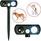 ARESAT Cat Repellent, Solar Waterproof Ultrasonic Animal Deterrent, Motion Sensor Farm for Garden and Flashing...