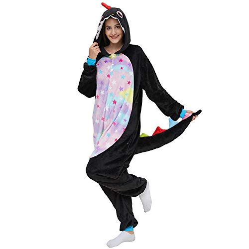 meimie00 Unisex volwassenen onesie kostm jumpsuit slaappak, huispak, joggingpak, diercosplay kost, pyjama hoodie onesie nachtwsche pyjama's dieroutfit met capuchon