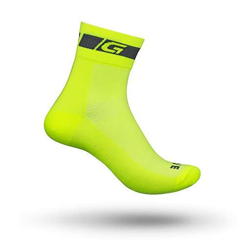GripGrab Unisex-Adult 1er Classic Low Cut-Single Pack Socken, Gelb Hi-Vis - 1 Paar, L (44-47)