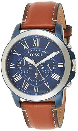 Fossil Homme Uhr Analogique Quartz mit Cuir Armband FS5151