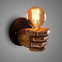 YXDS創造的なレトロな壁ランプ、レストランバーカフェに適した樹脂の創造的な拳人格産業