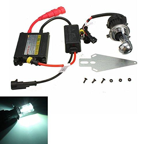 Alamor Ampoule De Xénon De 12V 35W 6000K H4 Hi / Lo Avec Le Kit De Phare De Conversion De Ballast Caché Pour La Moto