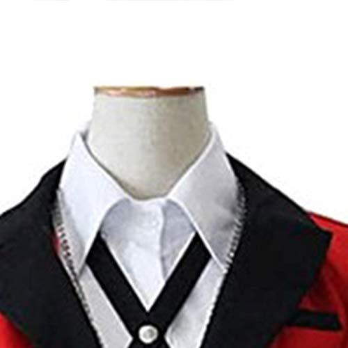 starte Jabami Yumeko Kakegurui Cosplay Traje kakegurui Uniforme De Disfraz De Anime para Mujeres Adultas Escuela JK Uniforme Falda Plisada Roja