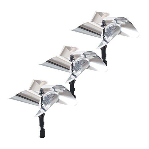 Gardigo Vogel-Frei Windmühle 3er Set, Reflektierende Vogelscheuche, Vögel vertreiben und Garten verschönern, Vogelabwehr, Vogelschreck, Windrad gegen Vögel, Taubenabwehr und Gartendeko