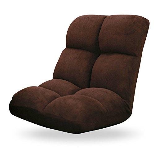 Chaise de dossier de coussin pliante personnelle paresseux rose/brun / vert clair/Buff (Couleur : Marron)