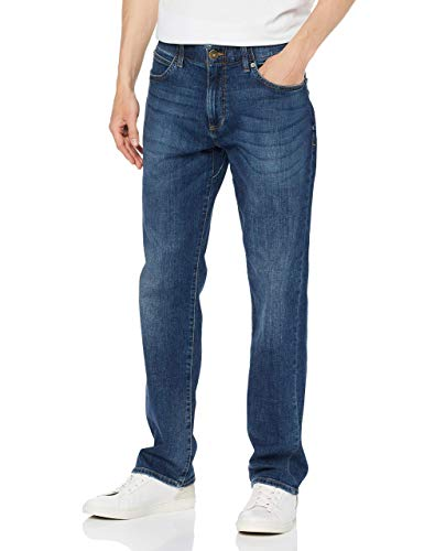 Lee Herren Extreme Motion Straight Pants, Blau (Maddox Pu), 34W / 34L