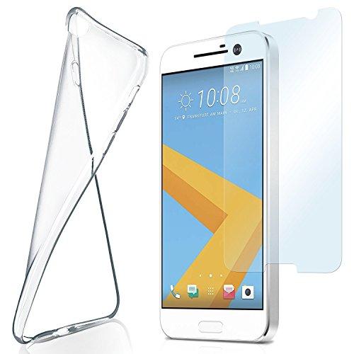 moex Aero Hülle mit Panzerglas für HTC 10 - Hülle mit Schutzfolie, transparent - Crystal Clear
