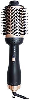 CANDYANA Secador de Pelo Volumizer Aire Caliente Cepillo 2 en 1 Cepillo de Pelo Styler para enderezar, Curling, Salón de Iones Negativos Blow secadores de Pelo enderezadora Curl Cepillo