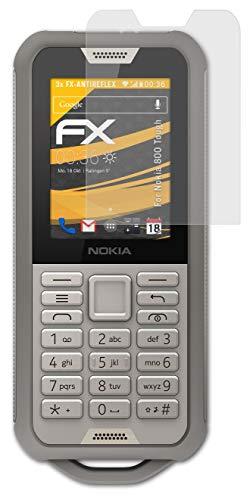 atFolix Panzerfolie kompatibel mit Nokia 800 Tough Schutzfolie, entspiegelnde & stoßdämpfende FX Folie (3X)