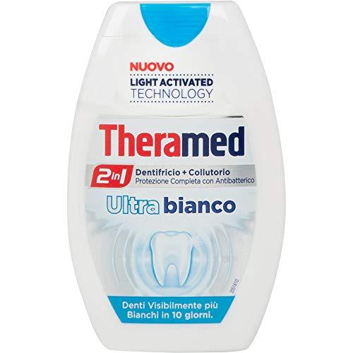 Theramed - Ultrabianco, Dentifricio e Collutorio, Protezione Completa con Antibatterico - 75 ml