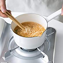 1.2L Nonstick Saucepan Melting Coffee Milk Boiling Porridge Soup Saucepan Gas Stove Enamel Pot for Home Kitchen or Restaurant