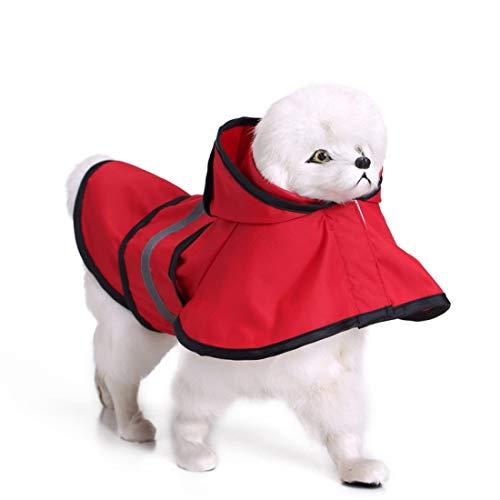 Zfy hond regenjas grote hond gouden retriever hond huisdier regenjas kleding regenjas poncho, XL, C