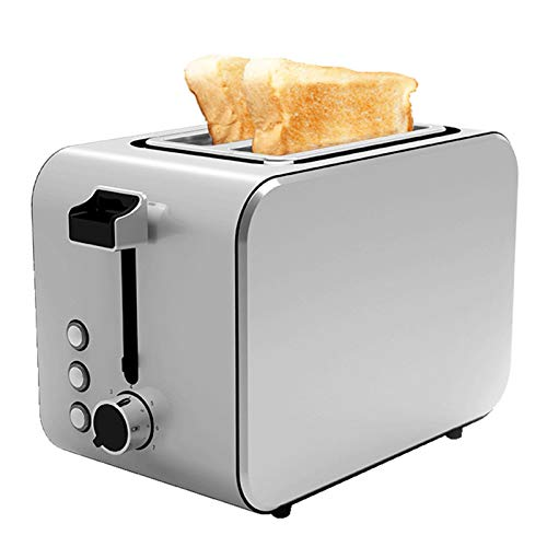 QYT-Tostadora de Ranura Larga, 7 Niveles de Tostado, función descongelación y recalentamiento, Bandeja recogemigas, 750 W,Tostadora Automática Simple,tostadora doméstico Multifuncional