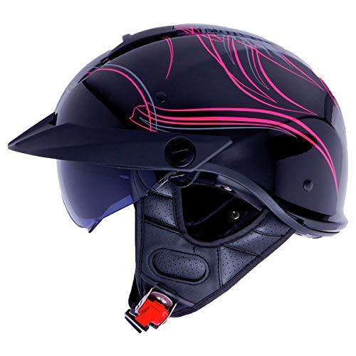 LS2 Helmets Rebellion Motorcycle Half Helmet (Wheels & Wings - Medium)