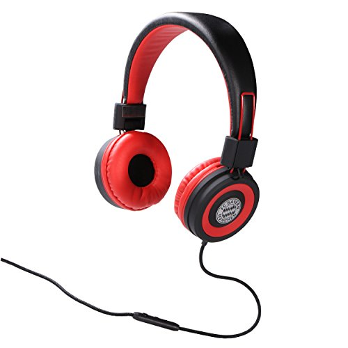 FC Bayern München OnEar - Kopfhörer/Headset / Headphones geeignet für z.B. MP3 Player, Handy etc. FCB - Plus gratis Aufkleber Forever München