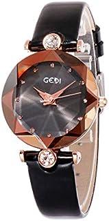 大ヒット中GEDI 海外人気ブランド レディース 腕時計 ウォッチ 防水 女性 誕生日 プレゼント 可愛い オシャレ 7色選ぶ可能 (パープル)