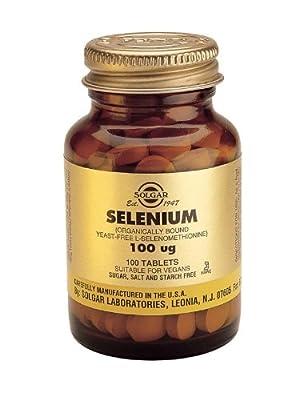 Solgar-Selenium 100 ug (Yeast-Free Selenium)- 100 Vegetarian Tablets from Solgar Vitamins and Herbs