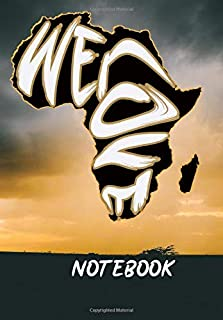 we love africa: Celebrate your diverse ancestry with this cool design/ Composition Notebook. College ruled with soft matte...