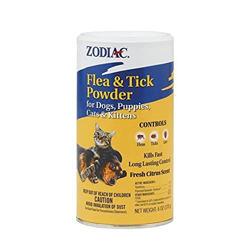 Zodiac Flea & Tick Powder for Dogs, Puppies, Cats & Kittens