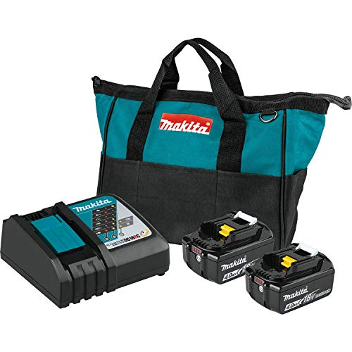 Makita BL1840BDC2 18V LXT Lithium-Ion Battery and Rapid Optimum Charger Starter Pack (4.0Ah) with XWT15Z 18V LXT Lithium-Ion Brushless Cordless 4-Speed 1/2
